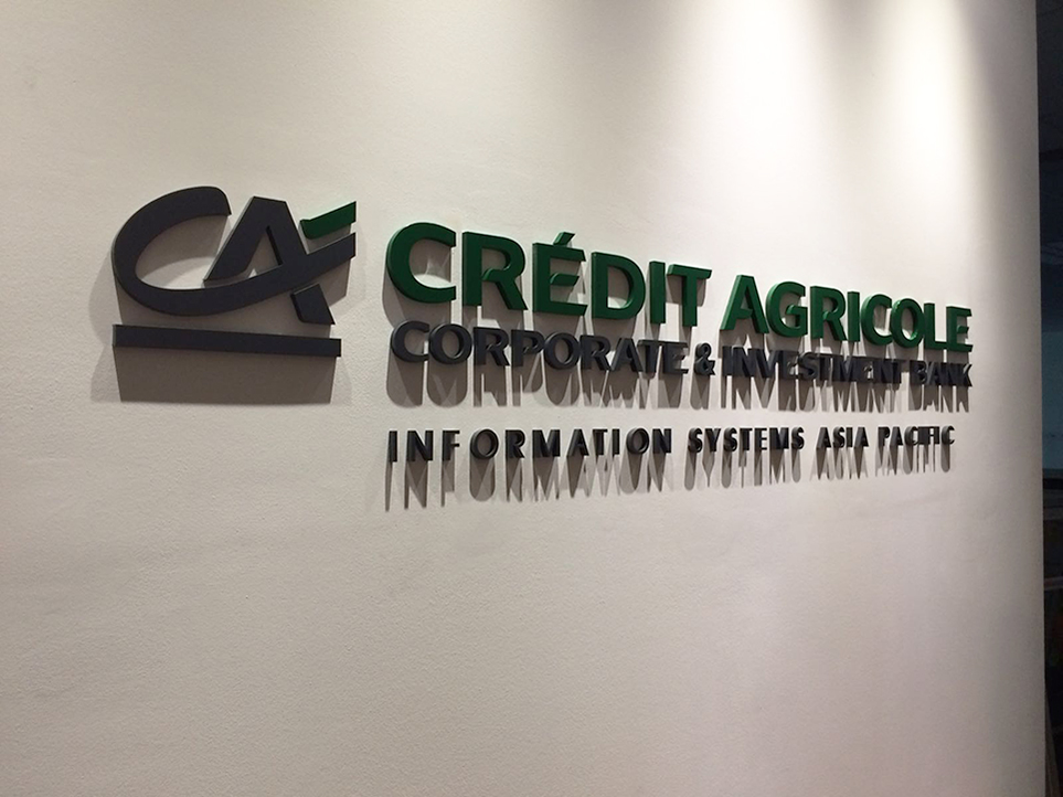 Credit Agricole signage