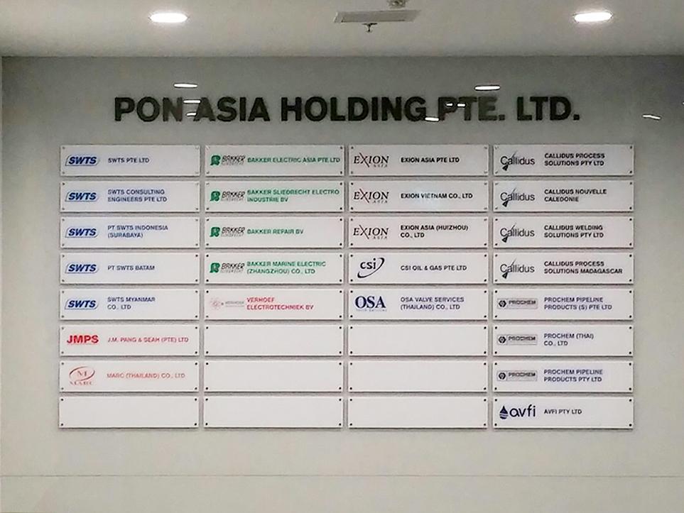 SWTS acrylic signage panel